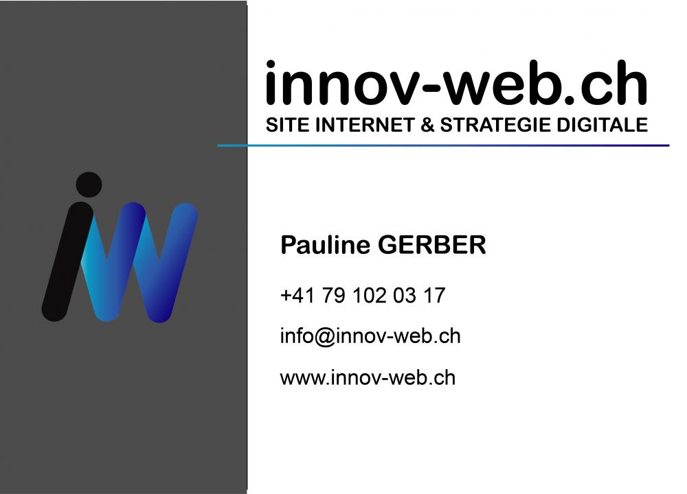 carte de visite innov-web.ch, stratégie digitale en valais, outils publicitaire papier