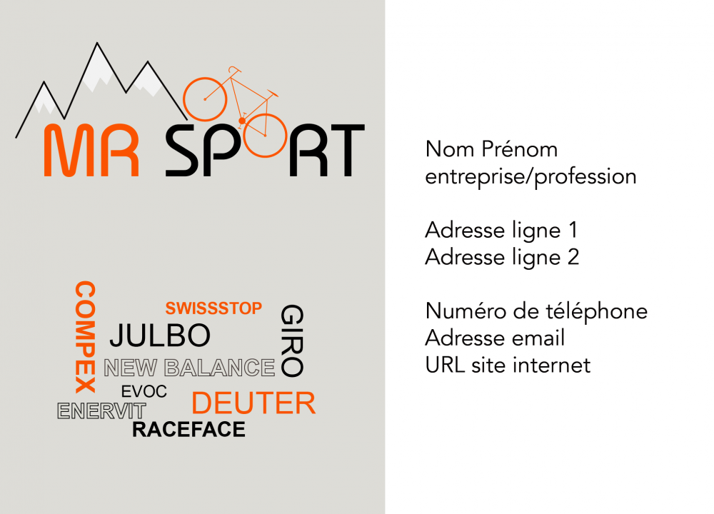 réalisation carte de visite mrsport réalisée par innov-web.ch, stratégie digitale en valais